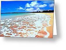 Tidal Lace Greeting Card by SophiaArt Gallery