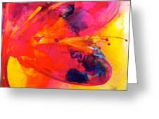 Tie Dye Wishes Greeting Card by Debi Starr