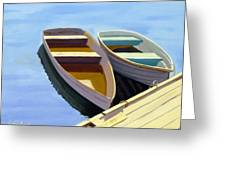 Tied Up At The Dock 2 Greeting Card by JJ Long