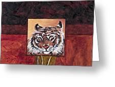 Tiger 2 Greeting Card by Darice Machel McGuire