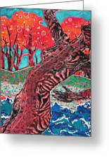 Tiger Lady Greeting Card by Diane Fine