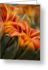 Tiger Lily Greeting Card by Bill  Wakeley