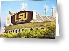 Tiger Stadium Greeting Card by Scott Pellegrin