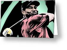 Tiger Woods Greeting Card by Tanysha Bennett-Wilson