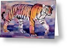 Tigress Greeting Card by Mark Adlington