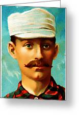 Tim Keefe New York Metropolitans Baseball Card 0128 Greeting Card by Wingsdomain Art and Photography
