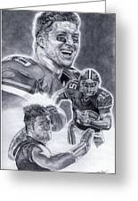 Tim Tebow Greeting Card by Jonathan Tooley
