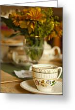 Time For Tea Greeting Card by Andrew Soundarajan