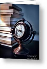 Time Greeting Card by HD Connelly