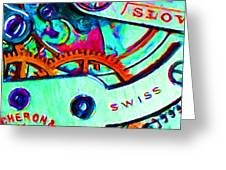 Time In Abstract 20130605m36 Greeting Card by Wingsdomain Art and Photography
