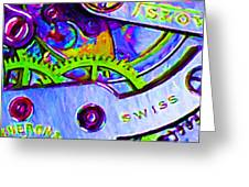 Time In Abstract 20130605p36 Greeting Card by Wingsdomain Art and Photography