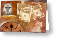 Time is Money Greeting Card by Jacob King
