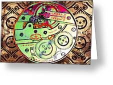 Time Machine 20130606 square Greeting Card by Wingsdomain Art and Photography