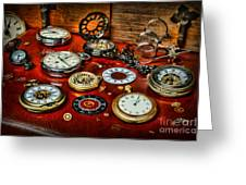 Time - Pocket Watches  Greeting Card by Paul Ward