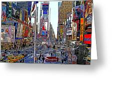Time Square New York 20130430 Greeting Card by Wingsdomain Art and Photography