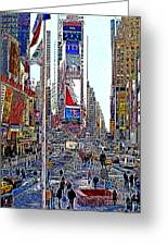 Time Square New York 20130503v6 Greeting Card by Wingsdomain Art and Photography