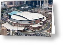 Time Warner Cable Arena Greeting Card by Bill Cobb