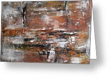 Timeless - Abstract painting Greeting Card by Ismeta Gruenwald