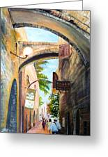 Timeless Alleys Greeting Card by Betty M M   Wong