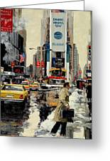 Times Square Greeting Card by Michael Swanson