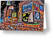 Times Square Greeting Card by Randy Aveille