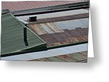 Tin Rooftops Of San Jose Greeting Card by Bill Mock