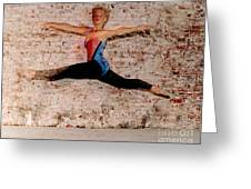 Tina Ballet Jump Greeting Card by Gary Gingrich Galleries