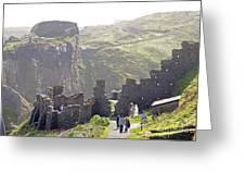 Tintagel Castle Greeting Card by Rod Jones