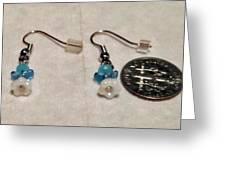 Tiny Angel Earrings Greeting Card by Kimberly Johnson