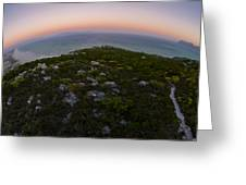 Tip Of The World Greeting Card by Aaron S Bedell