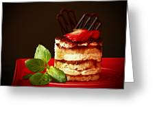 Tiramisu Dessert Passion Greeting Card by Inspired Nature Photography By Shelley Myke