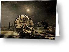 Tired Old Time Greeting Card by Franziskus Pfleghart