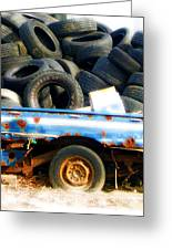 Tires Greeting Card by Tom Romeo