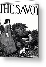 Title Page From The Savoy Greeting Card by Aubrey Beardsley
