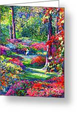To Read And Dream Greeting Card by Jane Small