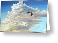 To Soar On Clouds Greeting Card by Linda Rous