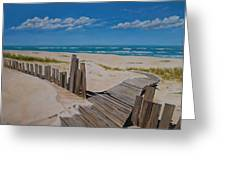 To The Beach Greeting Card by Paul Bennett