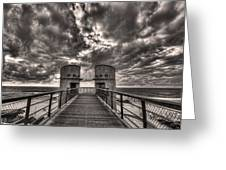 To The Bridge Greeting Card by Ron Shoshani