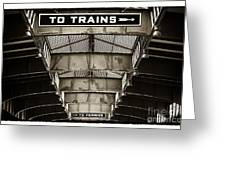 To Trains Greeting Card by John Rizzuto