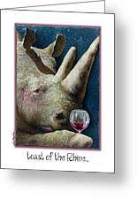 Toast Of The Rhine... Greeting Card by Will Bullas