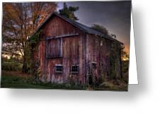 Tobin's Barn Greeting Card by Thomas Schoeller