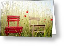 Together Then Greeting Card by Violet Gray