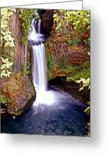 Tokatee Falls 1 Greeting Card by Marty Koch