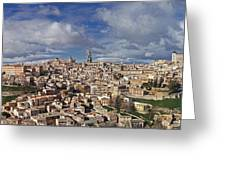 Toledo Old Town Panorama Greeting Card by Rudi Prott