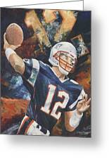 Tom Brady Greeting Card by Christiaan Bekker