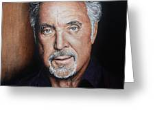 Tom Jones The Voice Greeting Card by Andrew Read
