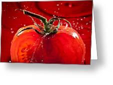 Tomato Freshsplash 2 Greeting Card by Steve Gadomski