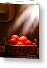 Tomatoes At An Old Farm Stand Greeting Card by Olivier Le Queinec