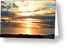 Tomorrow Is A New Day- Beach At Sunset Greeting Card by Artist and Photographer Laura Wrede