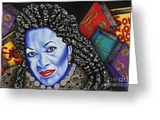 Toni Morrison Greeting Card by Nannette Harris